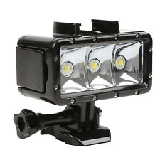 Waterproof 30m Diving Light High Power Dimmable For Gopro Hero 6/5/5S/4/4S/3+