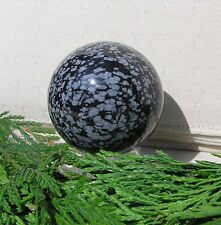 Snowflake Obsidian Solid Crystal Sphere - 40mm Diameter Complete with Stand