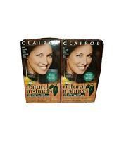 2 Clairol Natural Instincts Hair Color 4W / 28B DARK WARM BROWN Roasted chestnut