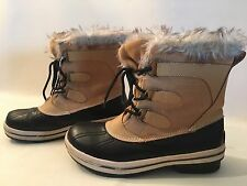 RUGGED OUTBACK Womens Sleigh Faux Fur Lace Up Rain Winter Ankle Boots 9