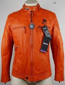 BLAUER USA Leather Jacket Lederjacke Bikerjacke Motorradjacke Gr.M NEU+ETIKETT
