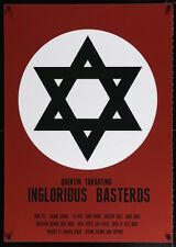 INGLORIOUS BASTERDS Polish movie poster TARANTINO JEWISH STAR OF DAVID 27x39 NM