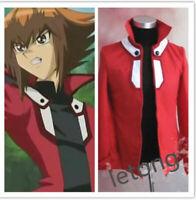 Hot Yu-Gi-Oh! Anime GX Jaden Yuki Red Jacket Coat Top Cosplay Costume Customized