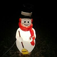 """Empire Frosty The Snowman Blow Mold 43"""" Red Star Scarf Vintage Missing Parts"""