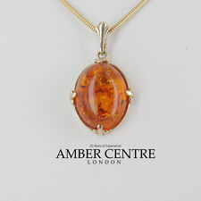 Italian Made Classic Baltic Amber Pendant in 9ct Gold - GP0034  RRP£195!!!