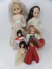Lof of 6 Vintage Dolls Story Book Vogue Madame Alexander Effenbee