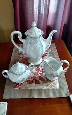 Vintage-Johann Haviland Bavaria Blue Garland Coffee Tea Pot Set GERMANY