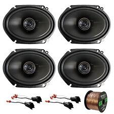 """4 x Pioneer 6x8"""" Car Speakers, 4 x Metra Speaker Adapter, Enrock Speaker Wire"""