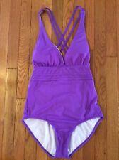 022c3126a81 Athena Criss Cross Pink One Piece Swimsuit Swim Suit Size 12