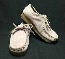Clarks Wallabees Hard To Find Blush Pink! Women's 9 9M Suede Leather