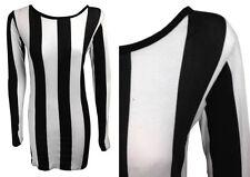 Unbranded Scoop Neck Long Sleeve Striped Dresses for Women
