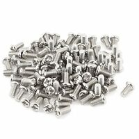 100pcs M3x6mm Recessed Crosshead Cross Head Threaded Screw Fasten Bolt