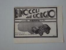advertising Pubblicità 1935 BINOCOLI SAN GIORGIO - GENOVA SESTRI