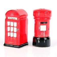 Céramique Sel et poivre set-uk Téléphone et Boîte postale LONDRE Grande-Bretagne