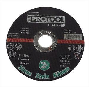 10 x STONE CUT OFF DISCS PROTOOL 125 X 3 X 22.2