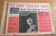 Free Press 1974 Underground newspaper Marilyn Chambers Beatles Ron Cobb Fantasia