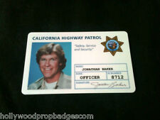 "CHP ""Chip's ""Jon Baker"" Id Card 80'sTv Show NEW"