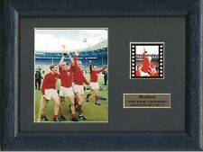 BOBBY MOORE ENGLAND WORLD CUP WINNERS 1966 FRAMED 35MM FILM CELL GREAT GIFT