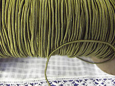 "100 YDS VTG 1/16""  GREEN RAYON CORDING SEWING TRIM JEWELRY MAKING CROCHET"