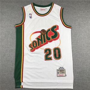 Gary Payton #20 Seattle Supersonics Throwback Swingman Jersey White Size S-XXL