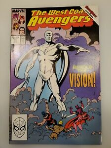 WEST COAST AVENGERS #45 -1989- FIRST APPEARANCE OF THE WHITE VISION-WANDAVISION