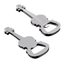 2016 Guitar Bottle Opener Bottle Opener Key Chain Keyring Creative Birthday Gift
