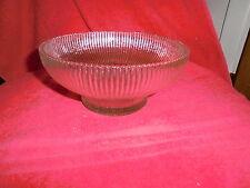 Vintage Hoosier Ribbed Glass Bowl #4054