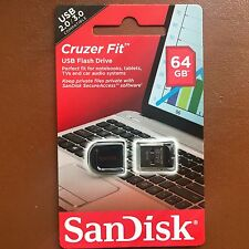 NUOVO 64GB SanDisk Cruzer Fit Chiavetta USB Pen Drive Flash Per MAC WIN 7 8 10