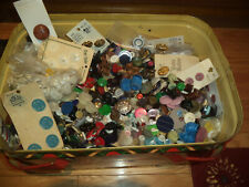 12 lbs Of Buttons Collectible- Bonus Come In Vtg Metal Picnic Basket Estate Buy