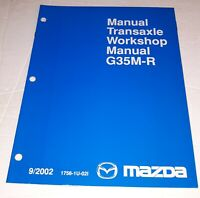 Mazda G35M-R Manual Transaxle Workshop Service Manual 09/2002 Free Shipping