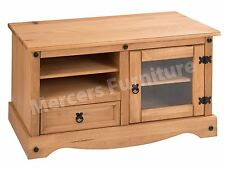 Corona Entertainment TV Video Unit Mexican Pine by Mercers Furniture