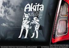 Japanese Akita - Car Window Sticker  - Inu Dog on Board Sign Art Gift American