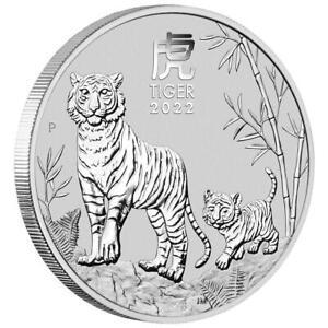 Australien - 1 Dollar 2022 - Jahr des Tigers (3.) Lunar III. - 1 Oz Silber ST