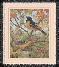 BALTIMORE ORIOLES IN THE FALL~COUNTED CROSS STITCH PATTERN ONLY