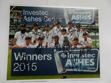More details for england cricket, autographed 2015 ashes winners team , signed by 12.