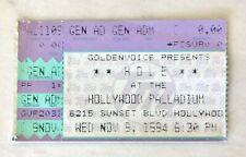 "1994 Hole ""Live Through This Tour"" Concert Ticket Stub Hollywood W/ Veruca Salt"