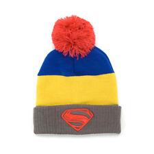 Superman Man of Steel Logo Pom Beanie Hat