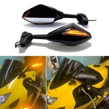 For Suzuki GSXR 600 750 1000 Hayabusa Motorcycle LED Turn Signals Side Mirrors A