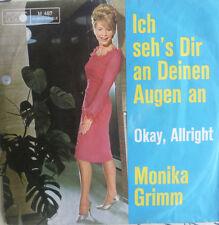"""7"""" 1964 RARE ! MONIKA GRIMM : Ich seh´s Dir an Deinen Augen an  /MINT-?"""