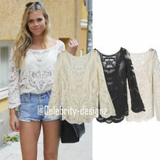 Lace Boho Floral Tops & Blouses for Women