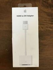 Apple HDMI to DVI Adapter (MJVU2AM/A) Sealed Brand New