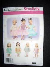 """18"""" DOLL NEW Simplicity 1485 Pattern Summer Clothes Fits American Girl"""