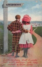 Loversknot & Hugmetite Sign Post Romance Lot Of 2 Postcards c1910s