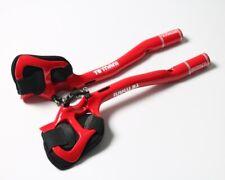 Carbon Road MTB Bike TT Triathlon Aero Bar rest Handlebar Aerobar 31.8*270mm Red