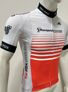 Short Sleeve Cycling Therapeutics Jersey Red & White - Made in Italy by GSG