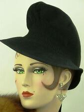 """VINTAGE HAT 1940 S Anglais, le """"Brief Encounter"""" chapeau, doux au fine feutre noir"""