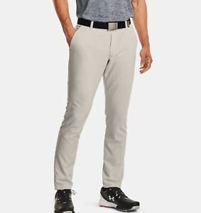 NEW Under Armour Men's Showdown Vented Golf Pants 1309546-110 Summit White 30x30