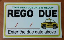 REGO Sticker - Remember when rego is due with this sticker