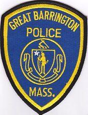 Great Barrington Police Patch Massachusetts NEW