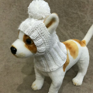 Pet Clothes Apparel Knit Dress /Sweater and Hat with Big Pom Poms for Dog